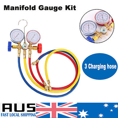 A/C Car Air Manifold Gauge Test Tool Set Conditioning Refrigeration Refrigerant