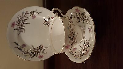Royal Standard Fancy Free pattern Cup , Saucer & Sideplate Trio