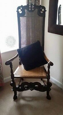 Antique William & Mary Period 17th Century Walnut Chair