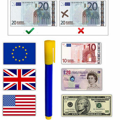 5 to 2 Counterfeit Fake Forged Money Bank Note Checker Detector Tester Pen UK