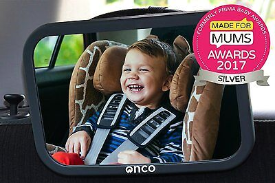 Baby Car Mirror Fully Adjustable Anti-Wobble Fixing Straps Quick Install