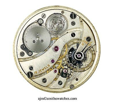 Swiss Lever High Grade Pocket Watch Movement Spares Repairs Tavannes 18J
