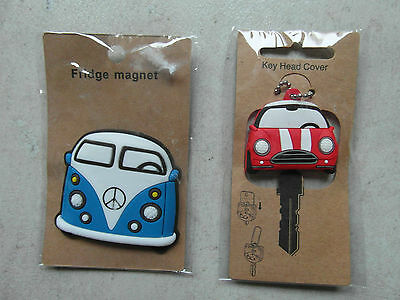 NEW: FRIDGE MAGNET CAMPER VAN or MINI KEY HEAD COVER - Great Fathers Day Gift