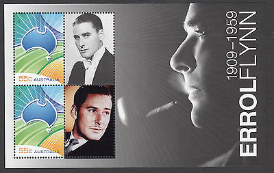 2009 Legends Errol Flynn minisheet / Sheetlet MNH.   RARELY AVAILABLE