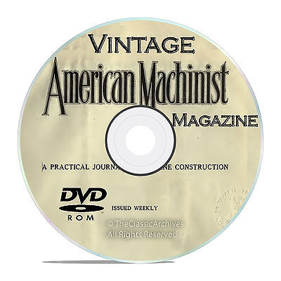 Vintage American Machinist Magazine, Machinery Handbook Collection DVD V27
