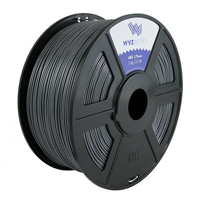 WYZwork 3D Printer Premium ABS Filament 1.75mm 1kg/2.2lb - Grey