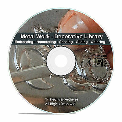 Decorative and Art Metal Work Embossing Hammering Repousse Books CD DVD V74