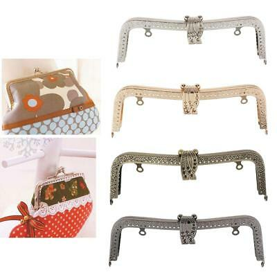 Metal Evening Party Purse Frame Wedding Handbag Clasp Fasteners Findings 20.5cm