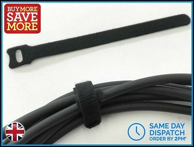 Reuseable Guitar Cable Ties Lead Jack Tidy Wrap XLR microphone mic DJ PA