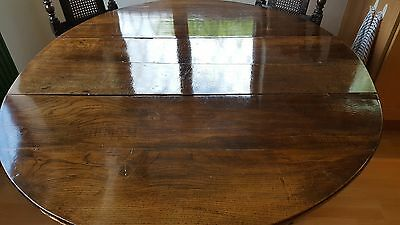 Late 17th Century Solid Oak Oval, Gateleg Dining Table - Seats 6