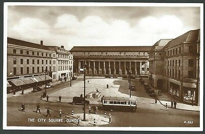 Dundee Angus The City Square c1930s Valentine Real Photo Postcard