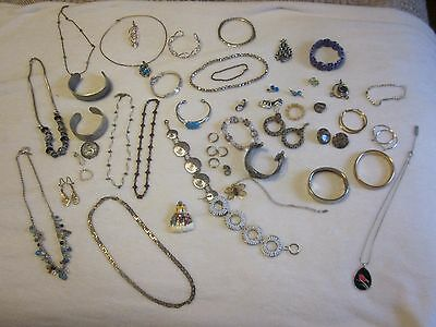 Estate Jewelry Lot Victorian Signed Gold Filled Jade Pin Bracelet Sterling MORE