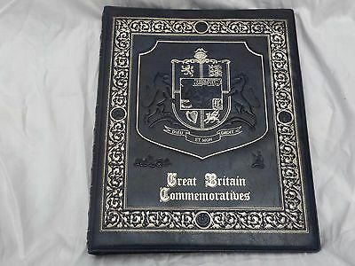 Heavily Embossed 23 Ring Great Britain Commemoratives Stamp Album Empty