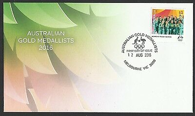 AUSTRALIA 2016 WOMENS RUGBY SEVENS RIO OLYMPIC GAMES GOLD MEDAL Single 1v FDC