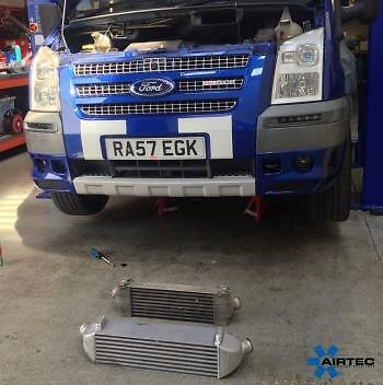 """2.5/"""" 76mm BLACK ALLOY FRONT MOUNT INTERCOOLER FMIC FOR FORD MONDEO FOCUS RS ST"""