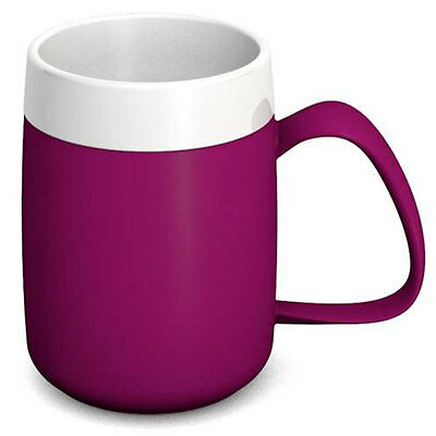 Ornamin One Handled Mug + internal cone - 200ml - Blackberry/White - PR65135/BB