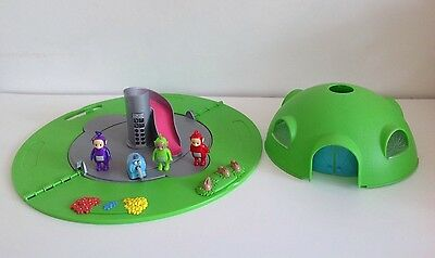 Teletubbies Hill Home House Tubby Dome Playset ~ With Working Lights & Figures