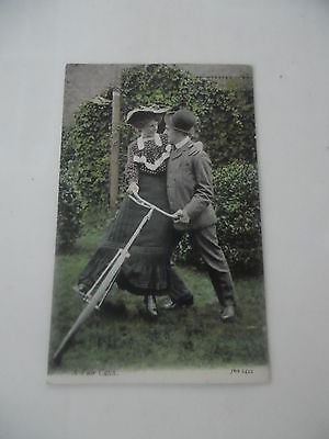 Vintage Used Postcard A Fair Catch Cycling Bicycle Humour