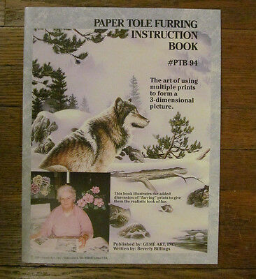 Paper Tole Furring Instruction Book # PTB 94 Wolf in the snow 1994 by GEME Art