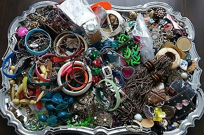 Jewelry Lot Huge Repair Junk Craft Only Necklace Bracelet Earrings Beads Misc.