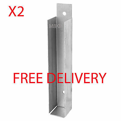 Gravel Board Clip 25 x 150mm, fencing, panels, bracket, PACK OF 2 FREE DELIVERY