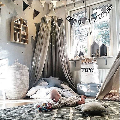 2017 Hanging Bed Canopy Baby Kids Room Reading Play Tents Cotton Netting Bedding