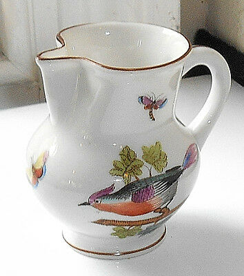 Herend Rothschild Bird Small Ewer Jug Dated 1943