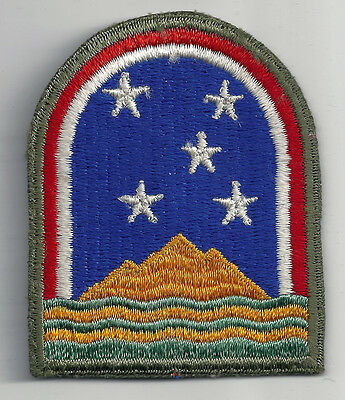 Ww2 Era U.s. Army South Atlantic Forces Cut Edge Snow Back Insignia Patch Wwii