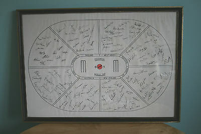 Prudential World Cup 1983 Autographed Print Of All Finalists