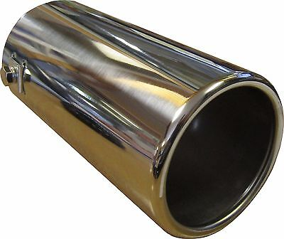 200MM STAINLESS STEEL BIG BORE CAR EXHAUST TAIL PIPE TRIM CHROME TIP 76mm