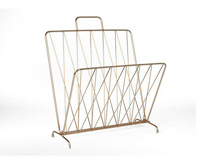 Magazine Rack Diamond Raster in Copper by Present Time