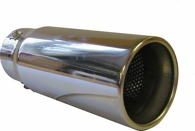 150MM STAINLESS STEEL BIG BORE CAR EXHAUST TAIL PIPE TRIM Silver CHROME TIP 89mm