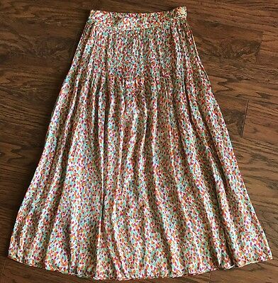 VALENTINO BOUTIQUE VINTAGE Colorful Polka Dot Gathered Pleated Skirt Size 8