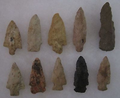 Nice Kentucky Authentic 10 Artifacts Arrowheads Knives Spears Kenton County