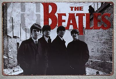 Targa The Beatles stampa metallo vintage retrò pub bar poster arredo