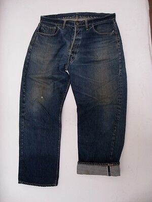 Vintage Levi's Big E 501 XX Hidden Rivet Paper Patch Jeans DISTRESSED 36 X 30