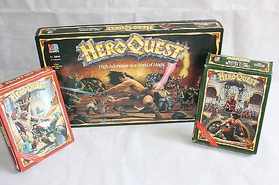 HeroQuest Board Game + Return of the Witch Lord & Kellar's Keep Expansion Packs