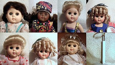 7 Ginny Dolls Clothing Shoes Socks Stands 1 Mint in Box