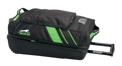 Arctic Cat Ogio Adrenaline Small Roller Bag Black & Green Free Roll OEM 5262-902