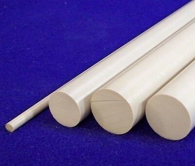 PEEK Rod NATURAL Round Dia Bar High Temperature Engineering Plastic Long Length