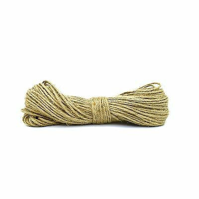 100 Meters 2 Ply 100% Natural Jute Hessian Burlap Twine String Cord
