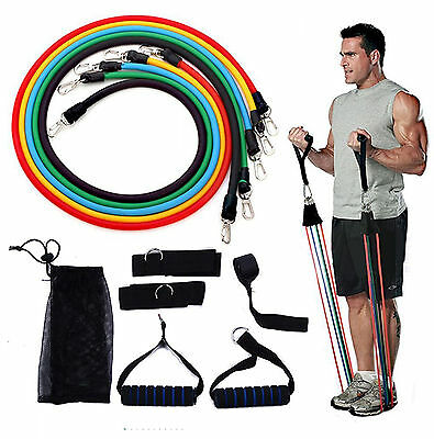 Yoga tension rope Exercise latex resistance bands Tube stretch workout Gym kit