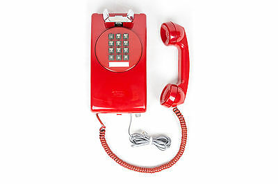 Meticulously Refurbished & Restored Vintage Touch Tone 3554 Wall Phone - Red