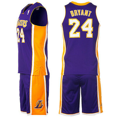 Nba Adidas Los Angeles Lakers Bryant Kids Childrens Basketball Jersey Shorts Set