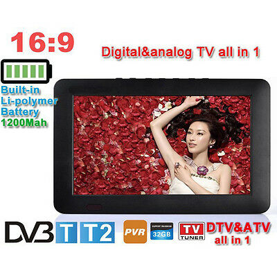LEADSTAR D9 9 Inch 16:9 TFT DVBT2/DVBT Digital Analog Portable Mini LED HD TV Su