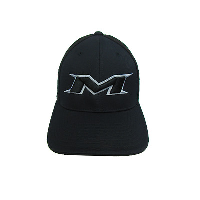Miken Hat by Pacific (404M) ALL BLACK/SILVER/BLK SM/MD (6 7/8- 7 3/8)