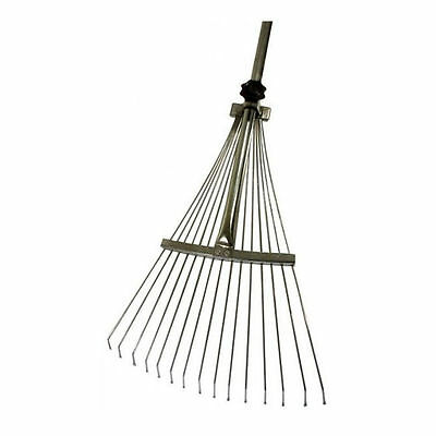120cm High Quality Metal Extending Rake Leaf Leaves Grass Weed Lawn Garden Patio