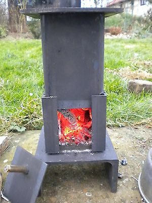 Green House Wood Burning Stove Patio Garden Camp Mini Heater Cooker Fireplace