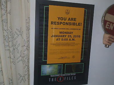 Extremely Rare! The X Files Movie Prop Flyer Framed From Season 10 Epsiode 1004