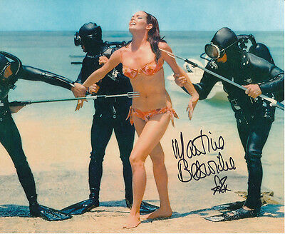 Martine Beswick In Person Signed Photo - James Bond - AG456